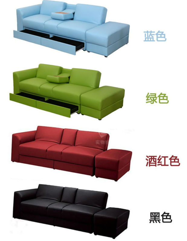 Pvc Leather Cum Designs Sectional Recliner Sofa Bed For Sale - Buy ...