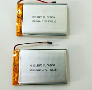 China manufacturer 503450 li polymer battery 3.7v 1000mah 3.7v lithium ion polymer battery for digital products/tablet