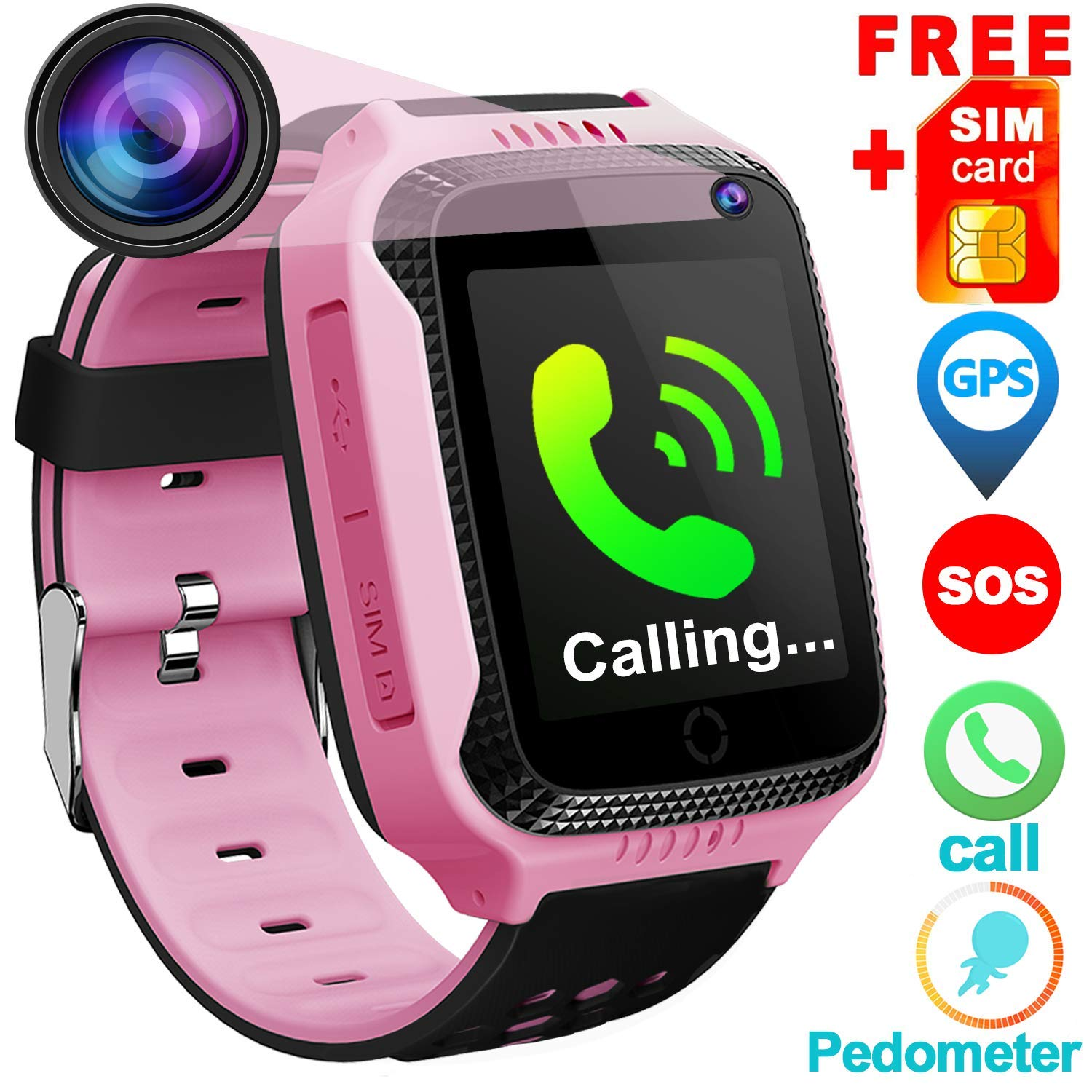 ec380e96950 Kids Phone Smart Watch for 3-12 Year Old Boys Girls GPS Tracker with Free