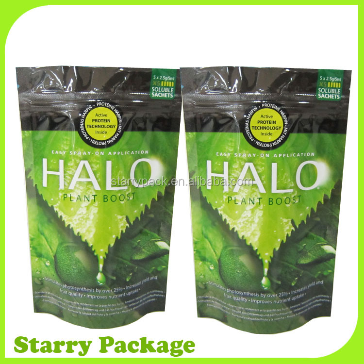 high quality plastic aluminum foil herbs bag with ziplock