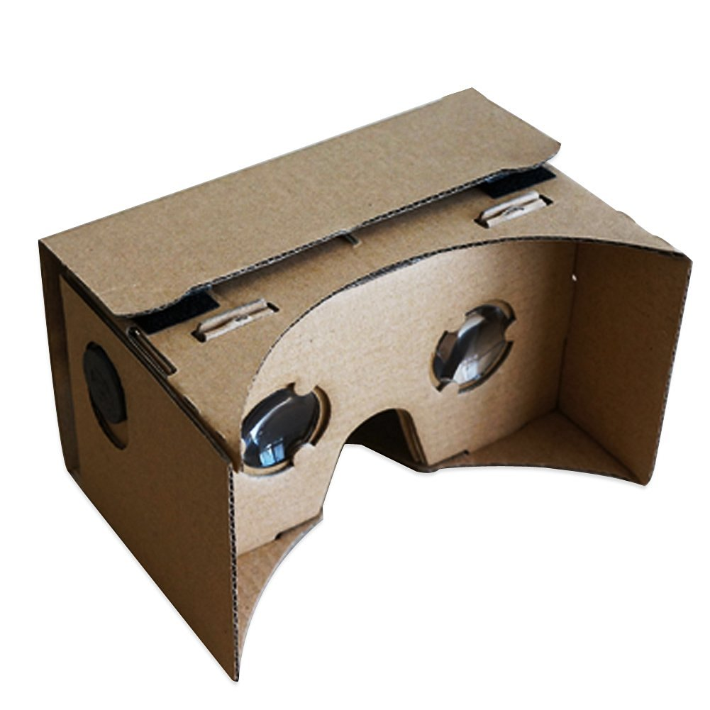 INHDBOX Google Cardboard,Topmaxions 3D VR Virtual Reality DIY Glasses For 3D Movies and Games Compatible with Android & Apple 4.5- 6 Inch Easy Setup Machine