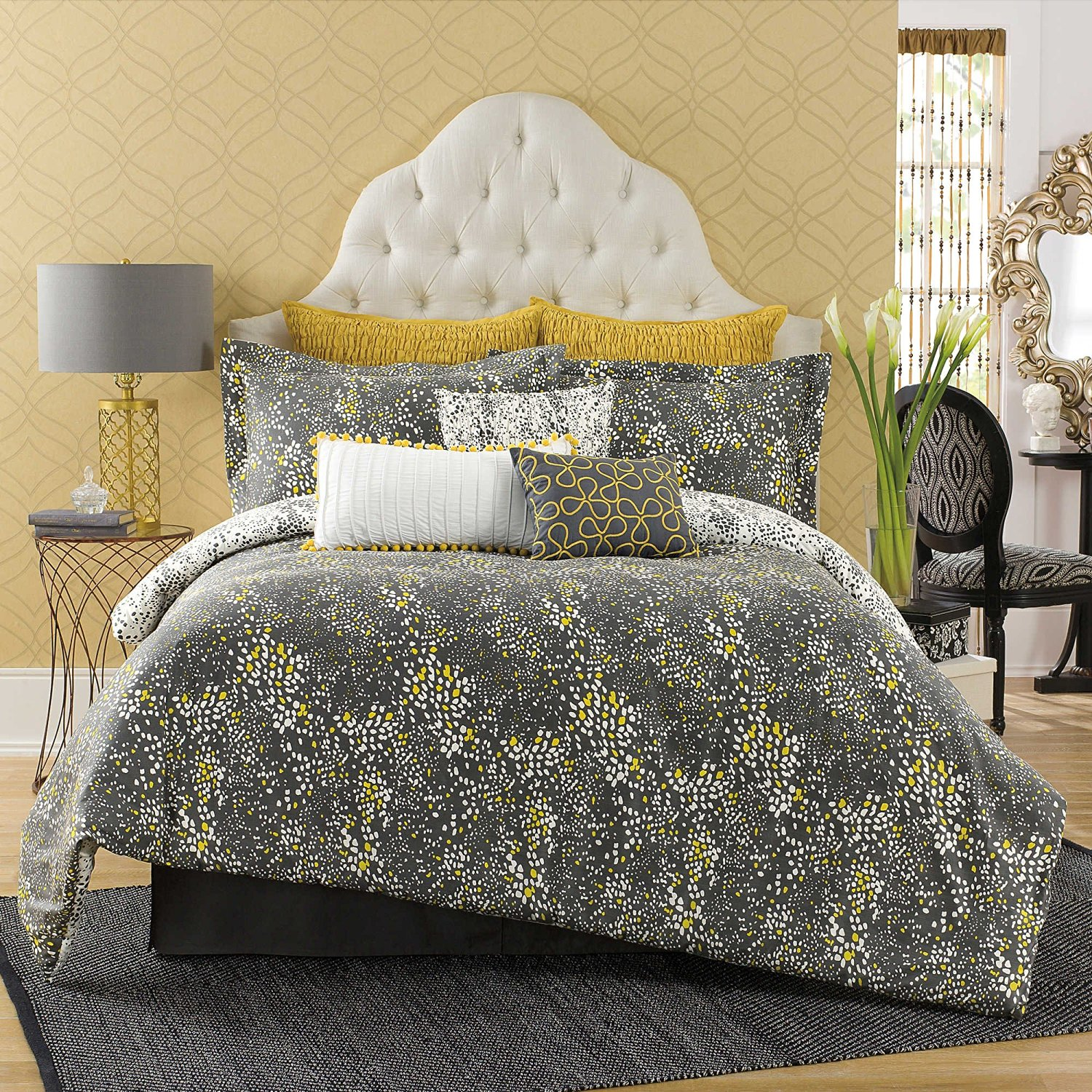 decoration with of grey set size yellow and comforter queen nursery sets full gray