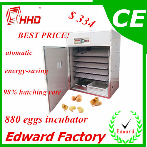 HHD Best Price and 98% hatching Rate Automatic 800 eggs Hach For Sale of high quality
