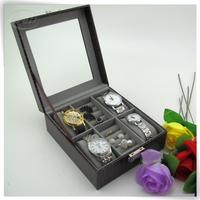 cheap glossy pu leatherwooden box watch winder automatic cabinet