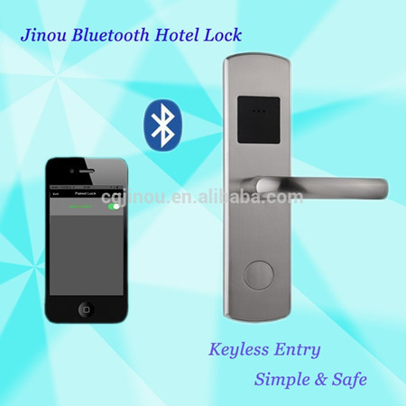 Beautiful The Jinou Smart Lock is optimized to be used with your smart phone but you can also program Bluetooth Low Energy tags that you can use to lock and unlock Trending - Elegant best bluetooth door lock Minimalist