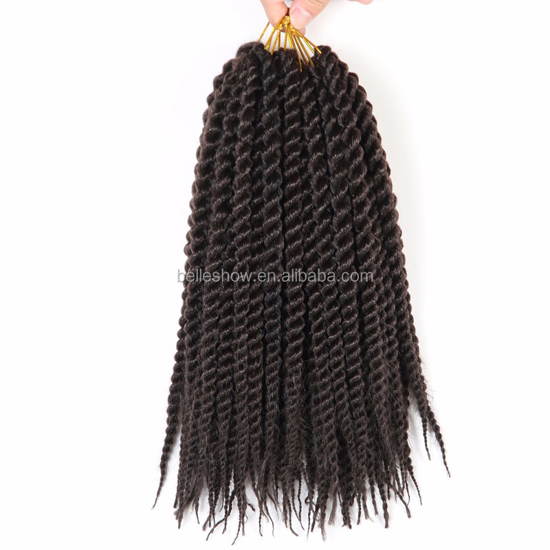 Belleshow 14inch 12stands synthetic braiding hair afro twist braids straight crochet braid hair senegalese hair extension