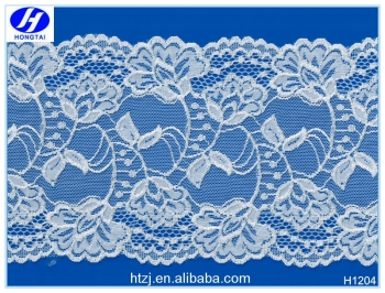 2016 Hongtai 15cm new design 3d lace fabric white chantilly lace
