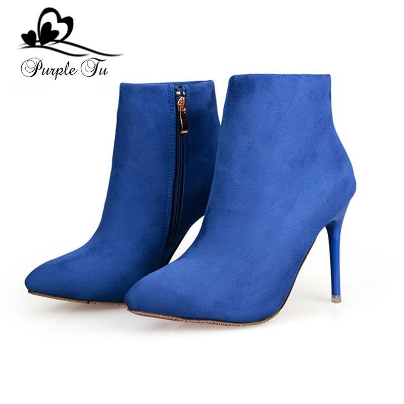womens blue dress boots