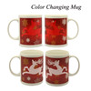Shenzhen factory custom 11oz cold hot color changing mug,hot/cold magic mug,hot and cold heat sensitive mug