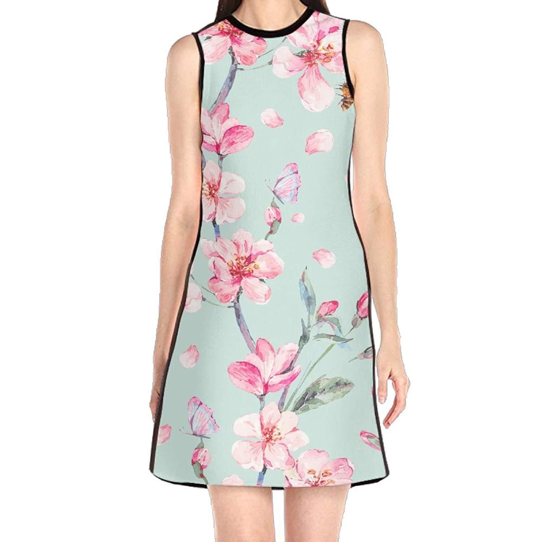 9ad333648217 Get Quotations · Hakalala Dress Womens Dresses, Floral Print Pink Mint  Green Spring Dress, Short Hawaiian Dresses