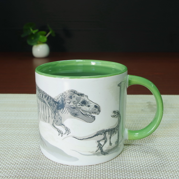 magic extinct dinosaur inside color glazed stoneware ceramic mug sauce cup