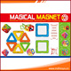 Educational indoor 20pcs ABS plastic magical magnet childrens toys