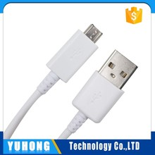 Factory Supply 0.8m white usb 2.0 micro cable