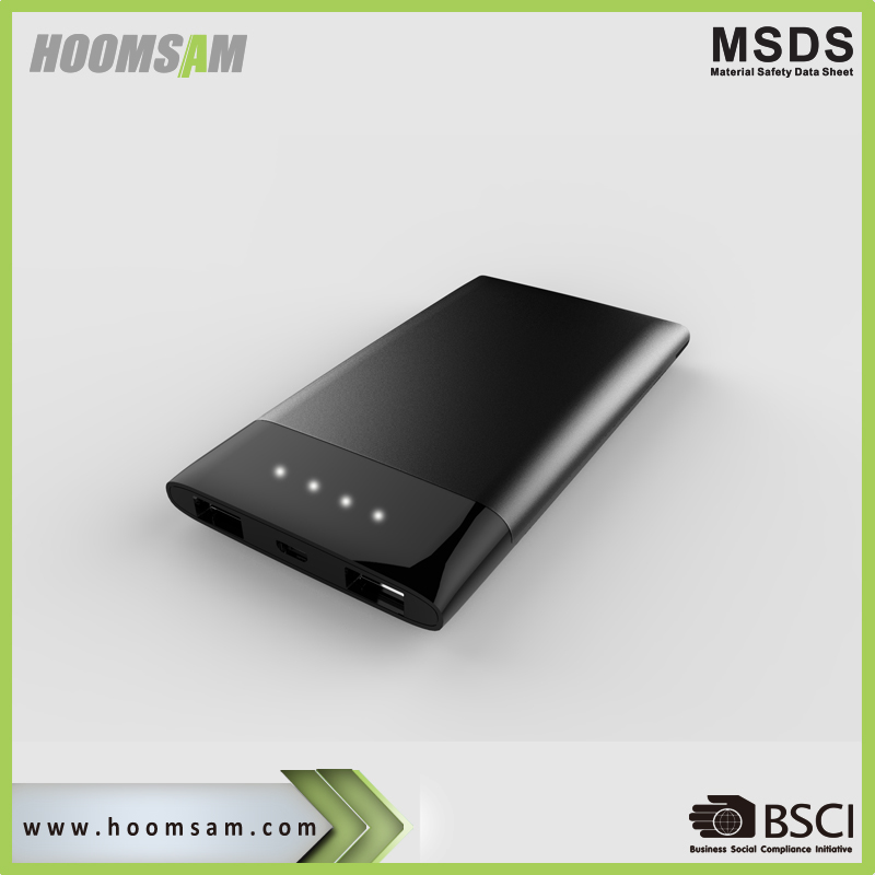 BSCI manufacturer portable slim power bank 4000mah mobile phone powerbank