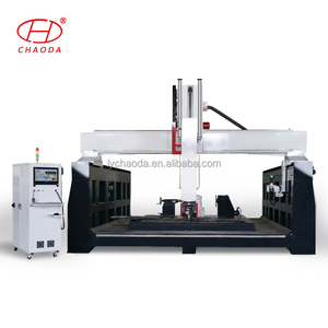 Factory supply cnc 5 axis cnc router machine for boat, car mould, plastic injection mould working price