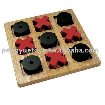 Wooden Tic Tac Toe Board Game Buy Intellectual Board Gameboard