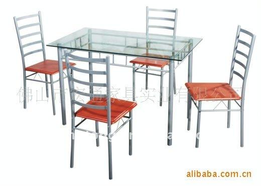Pilares Metal Y Vidrio 5 Unidades Juego De Comedor,Mesa De La Cocina ...