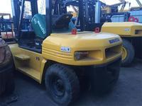 4.5m high stage Japan FD80 8 ton komastu forklift used diesel forklift