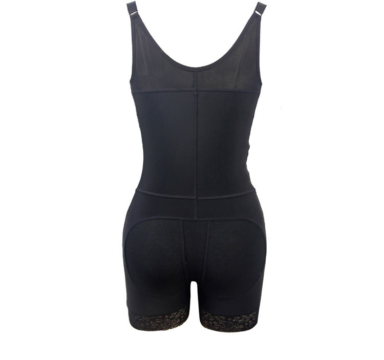 Women Body Shaper Waist Cincher Underbust Corset Jumpsuit Shapewear Zip Bodysuit