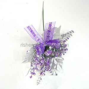 Made in china artificial christmas flowers silver decorative floral picks