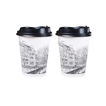 7 oz Dixie Cups_Single Double Wall Disposable Dixie Coffee Cups_Branded Logo Printed Paper Coffee cups