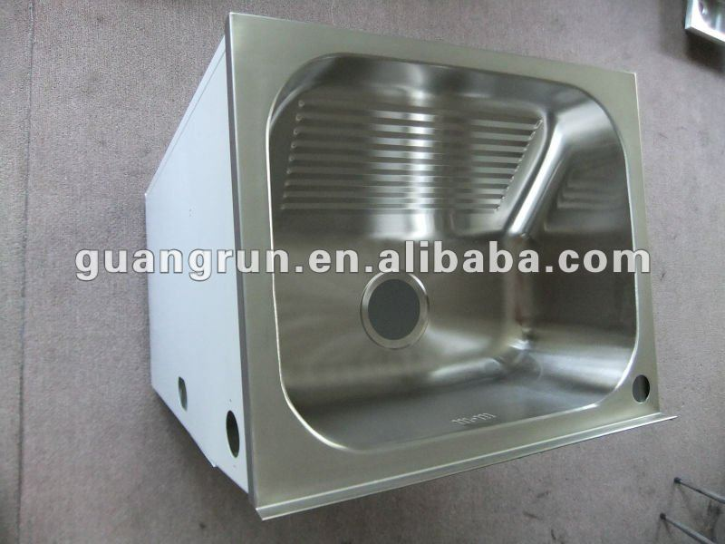 Household Free Standing Commercial Stainless Steel Laundry Tub