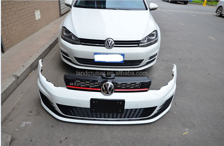 2014 vw golf 7 gti facelift front bumper with drl for golf. Black Bedroom Furniture Sets. Home Design Ideas