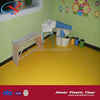 Simple Color Pvc Vinyl Flooring For Kids