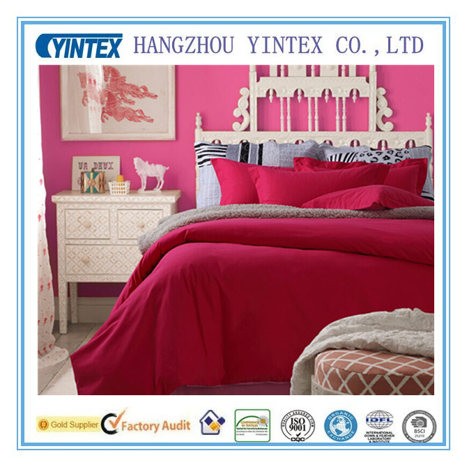 100% Cotton Bedding Set with Bed Linen Pillow Cover and Duvet Cover for Wedding