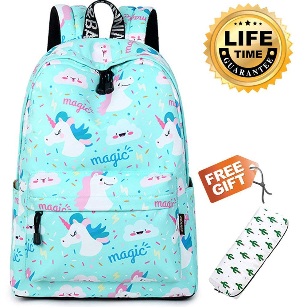 2298911522d Get Quotations · Girl Backpack Fashion Student School Book bags Cute Women  Printed Pattern College Daypack (Unicorn)