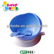 2016 durable plastic baby bowl with spoon
