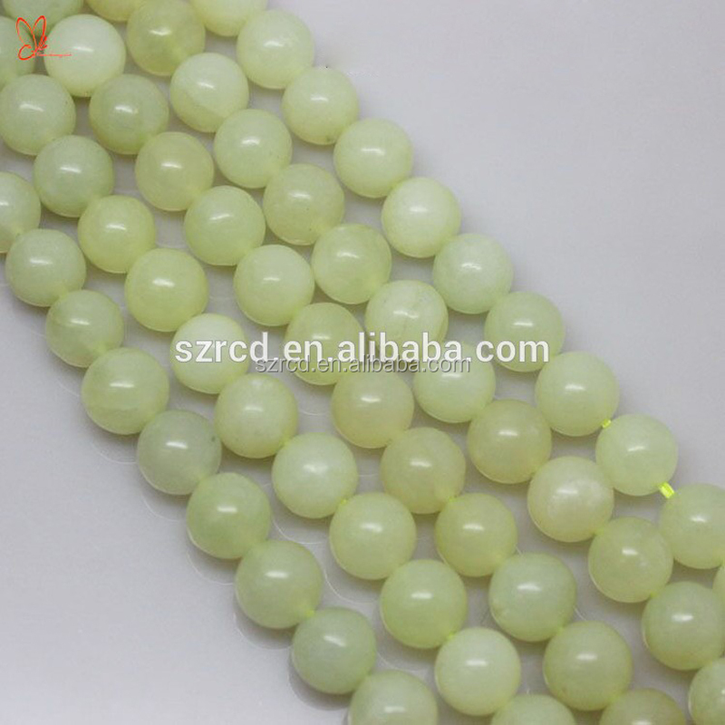 Green jade rough Natural new jade round beads jewelry green jade <strong>stone</strong>