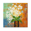 1 Piece Abstract White Flower Painting Printed on Canvas Modern Canvas Wall Art for Home Hotel Decoration 50cmx50cm/set