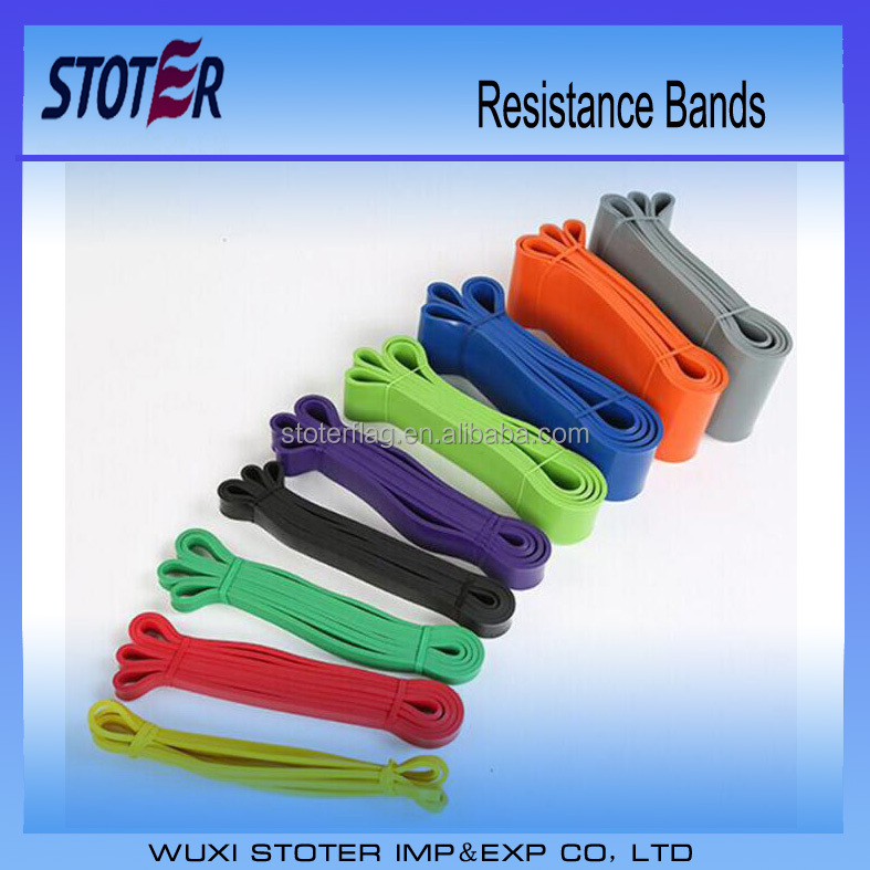 11 Level Fitness Yoga Elastic Resistance Band, Custom Resistance Exercise Band loop