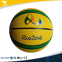 Wholesale Cheapest Colorful Street Cartoon Different Size Olympic Rio 2016 Rubber Basketball Mini