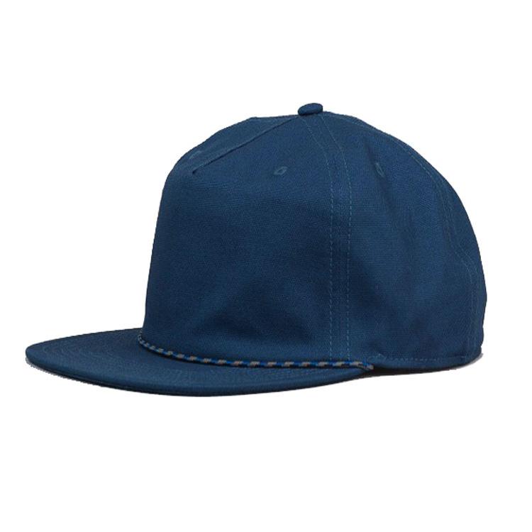 HongXiong manufacturer promotional classic wholesale 5 panel 100% acrylic  vintage plain custom snapback cap hats rope ... bd581bb9ce6