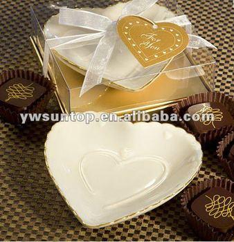 Porcelain Heart Shaped Dish Wedding Favors Buy Heart Shaped Dish