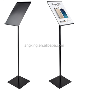 Multi-size of poster display stand A4 Size steel sign holder