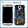 C&T Hot Selling sublimation phone case skull hybrid case for galaxy s4