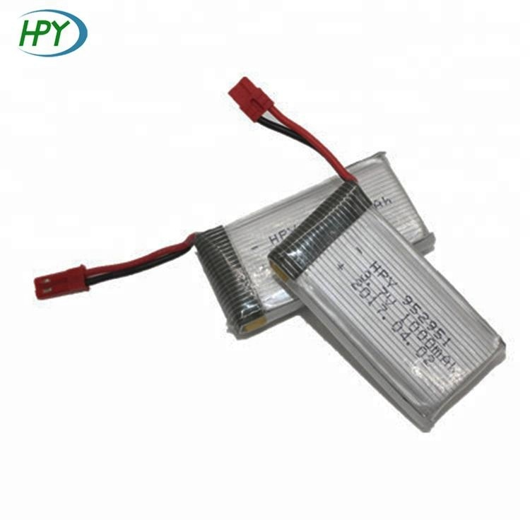 High quality 3.7V rechargeable battery 952951 1000mAh lithium ion battery for RC toys helicopter