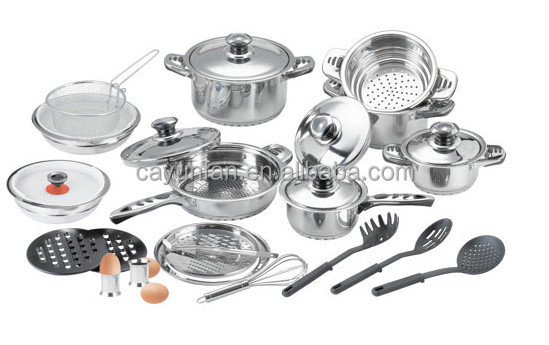 29pcs Stainless Steel Kitchen Queen Cookware Set Induction Compatible Tools