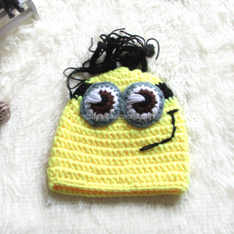 2016 fashion cotton pure handmade baby caps crochet beanie hat