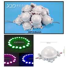 New XQD leds amusement rgb pixel led point light milky 50mm smd 5050 pixel lunapark ferry fairground ride