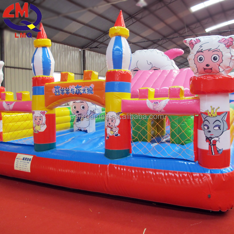 Commercial Grade Large Animal Bounce House Inflatable Bouncer Castle With Air Pumps