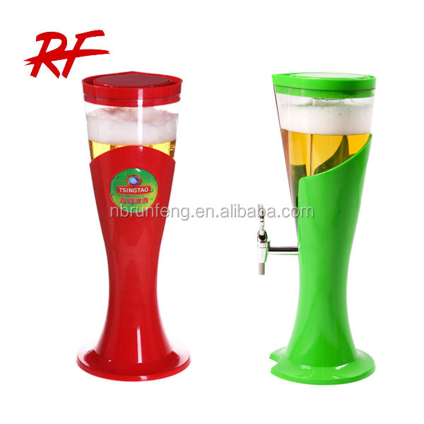 plastic beer dispenser / beer tower with ice tube