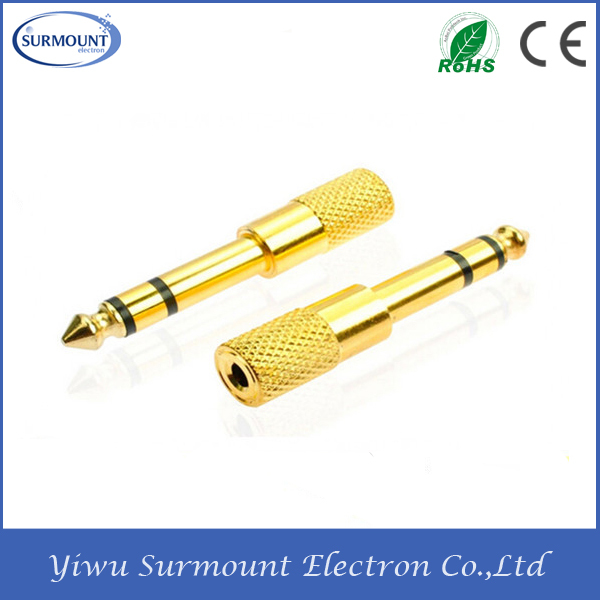 6.3mm (1/4 Inch) To 3.5 Mm Male To Female Stereo Adapter