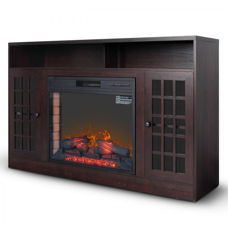 Popular Media electric Fireplace heater TV <strong>Stand</strong> with remote control
