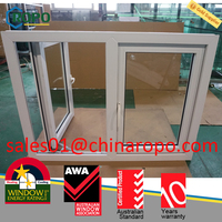 Energy Efficient Double and triple pane pvc vinyl casement type windows