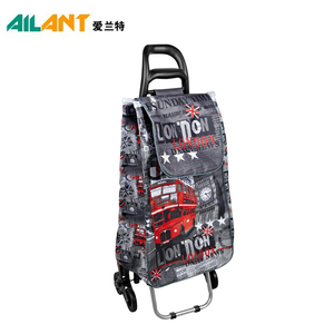 2018 New design Popular style portable folding shopping trolley with wheels