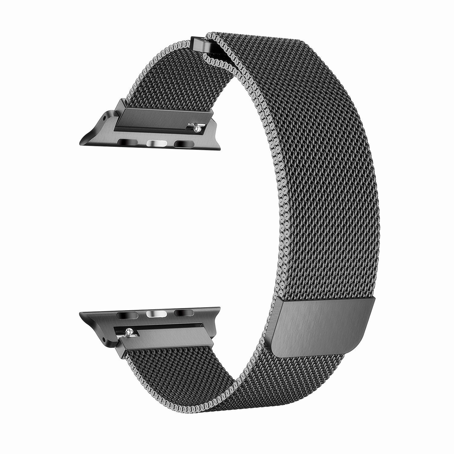 BRG for Apple Watch Band 38mm 42mm, Stainless Steel Mesh Milanese Loop with Adjustable Magnetic Closure Replacement iWatch Band for Apple Watch Series 3 2 1 (space gray, 42mm)